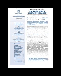 Alertes & conseils Professionnels libéraux de santé