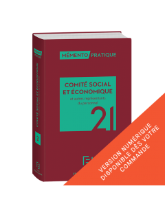 Mémento Comité social et économique et autres représentants du personnel 2021