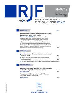 revue de jurisprudence et des conclusions fiscales