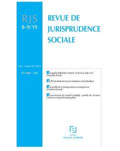 revue de jurisprudence sociale