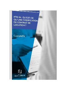 LIVRE BLANC - IFRS 16: Qu'est-ce qu'une modification de contrat de location ?